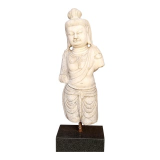 Yin Guanyin Marble Statue For Sale