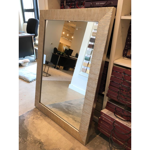 Transitional Style Silver Leaf Wall Mirror For Sale In Boston - Image 6 of 8