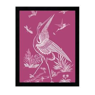 """""""Pink Crane"""" Framed Wall Art"""
