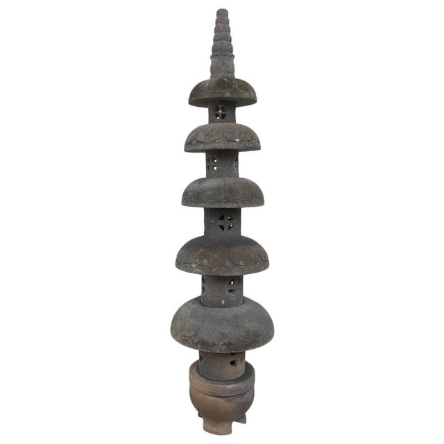 Stone Garden Pagoda For Sale - Image 4 of 4