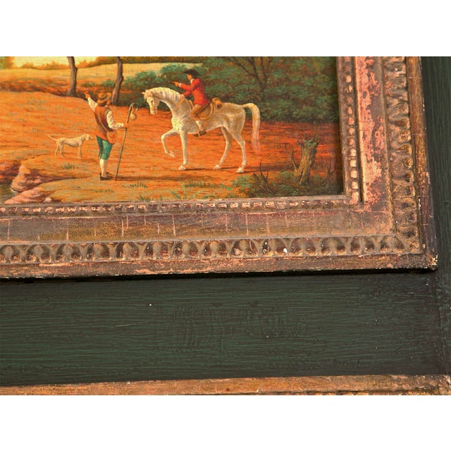 French Painted Trumeau Mirror - Image 6 of 8