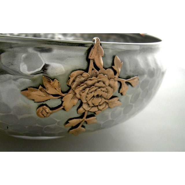 Late 19th Century Sterling Gorham Mixed Metal Footed Bowl For Sale - Image 5 of 8