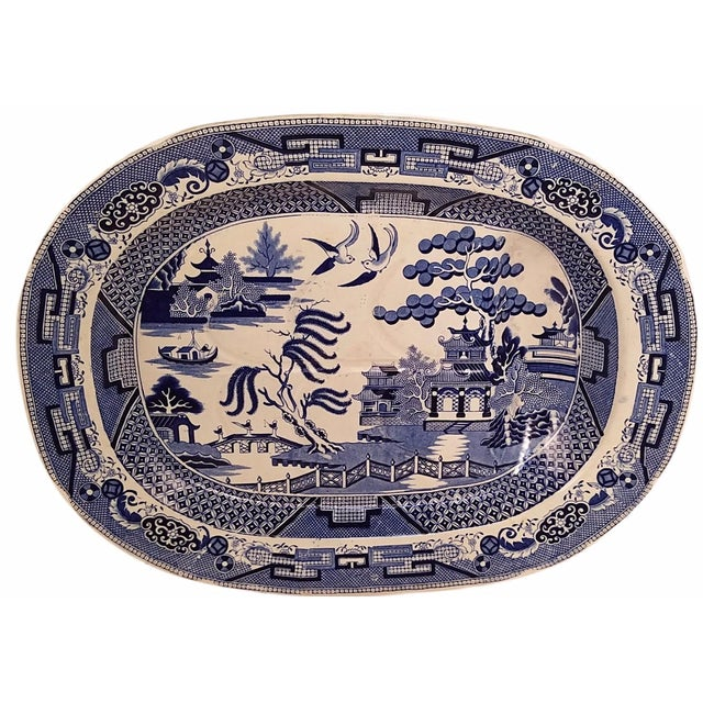 Blue Willow Ware Meat Platter - Image 1 of 4