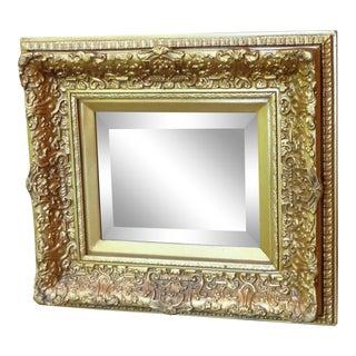 Vintage Art Deco Gilt Beveled Mirror For Sale