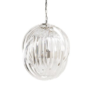 Marco Polo Lucite Loop Chandelier, Medium For Sale