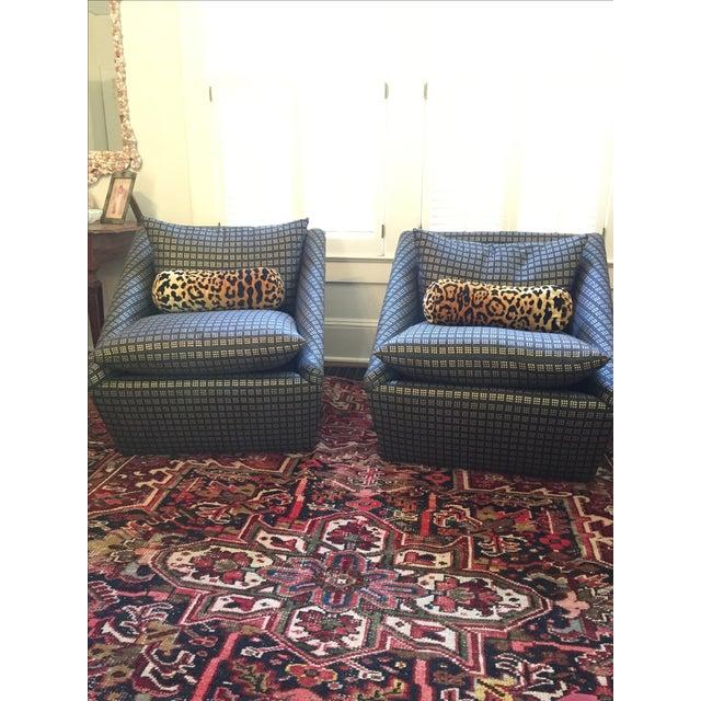 Kelly Wearstler Modern Armchairs - Pair - Image 2 of 8