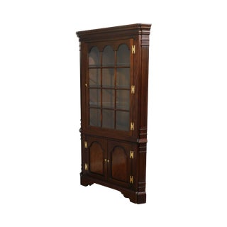 Councill Craftsmen Chippendale Style Mahogany Corner Cabinet For Sale