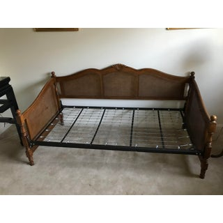 French Country Horchow Caned Twin Size Sofa Bedframe Preview