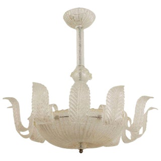 1940s Italian Murano Gold Dusted Chandelier by Barovier E Toso For Sale
