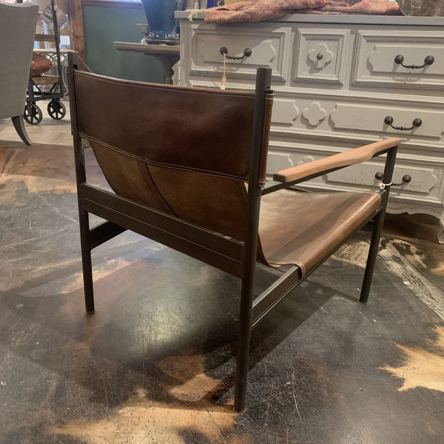 Vachetta Coffee Leather Barcelona Chair by Cisco Brothers For Sale - Image 9 of 13