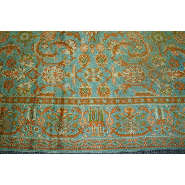 "Antique Donegal Turkish Oushak Rug - 9' X 11'6"" For Sale - Image 4 of 6"