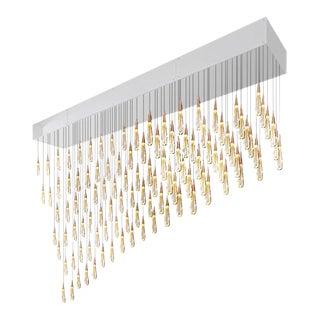 Commercial Skinny Rain Rectangular Chandelier For Sale