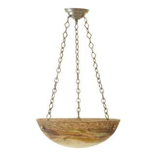 Art Nouveau Mueller Freres Glass Bowl Light For Sale