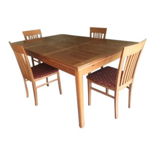 Vintage Ansager Danish Teak Extension Table & Four Chairs