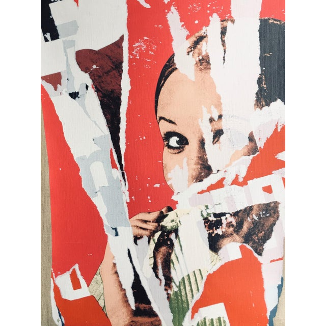 Pop Art Mimmo Rotella Limited Edition on Canvas For Sale