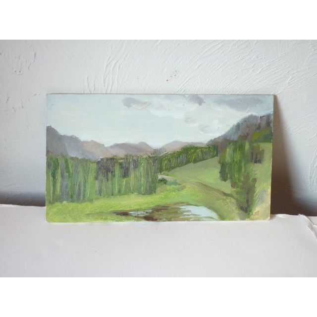 Late 20th Century Susan Scott Oil Sketch Paintings - Set of 3 For Sale - Image 4 of 7
