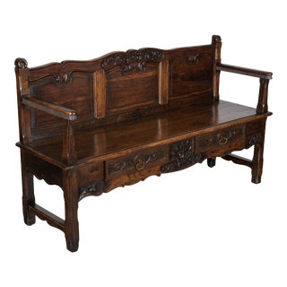 Early 19th C. French Provencal Bench For Sale