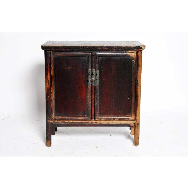 17th Century 17th Century Qing Dynasty Round Post Chest With Two Drawers and Original Patina For Sale - Image 5 of 13