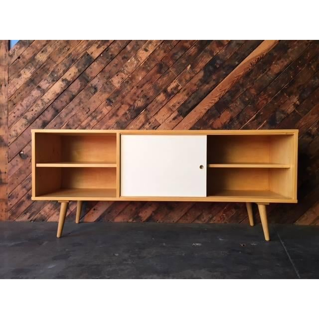 Mid-Century Modern Mid Century Style Custom Maple Credenza For Sale - Image 3 of 6