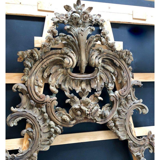 Baroque Large and Impressive Antique Italian Carved Frame in the Baroque Style For Sale - Image 3 of 12