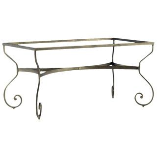 New Garden, Patio or Dining Table in Wrought Iron For Sale