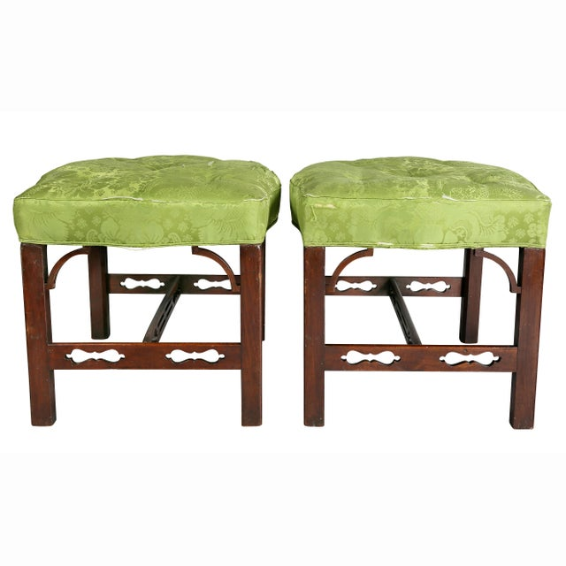 George III Mahogany Footstools - a Pair For Sale - Image 10 of 13