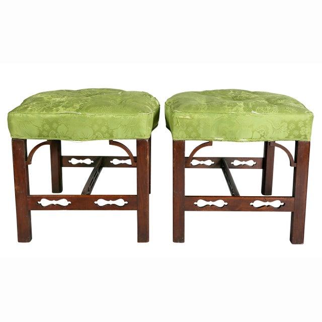 Pair of George III Mahogany Footstools For Sale - Image 10 of 13