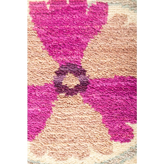"""Asian Suzani Hand Knotted Area Rug - 12' 3"""" X 15' 3"""" For Sale - Image 3 of 4"""
