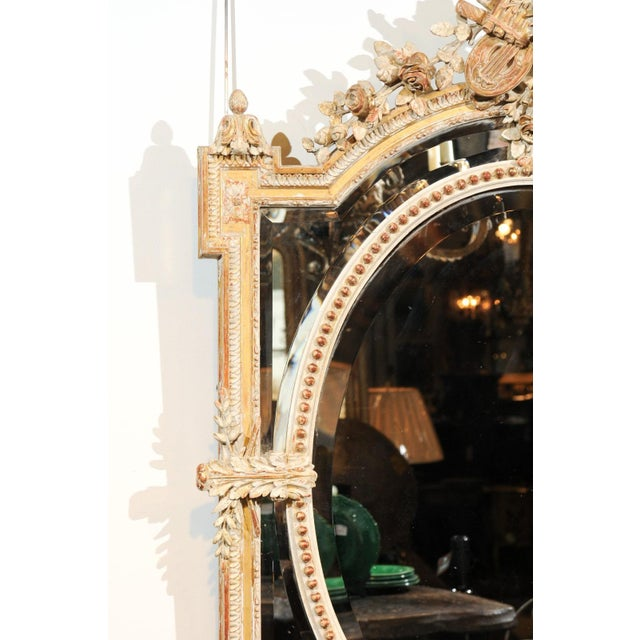 French Louis XVI Style 19th Century Pareclose Mirror with Liberal Arts Symbols For Sale - Image 10 of 13