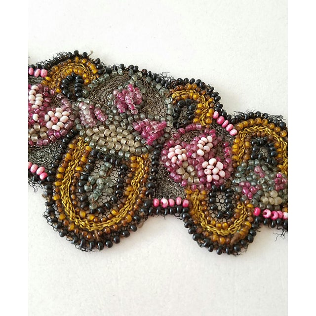 Antique Beaded Embroidered Applique - Image 3 of 5