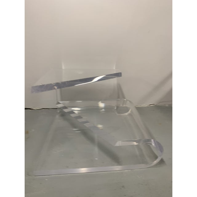 1970s 1970s Mid-Century Modern Lucite Accent Table by Charles Hollis Jones For Sale - Image 5 of 13