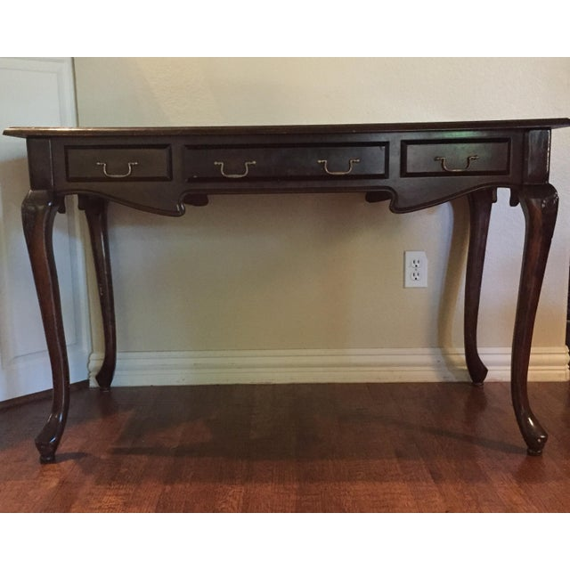 Antique Leather Inlaid Desk - Image 2 of 6