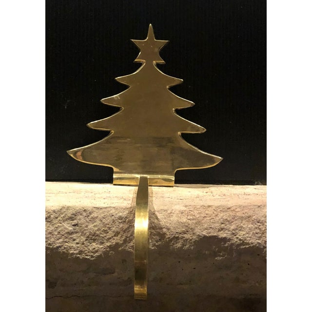 Vintage Brass Stocking Hanger Christmas Hook Holiday Tree For Sale - Image 4 of 7