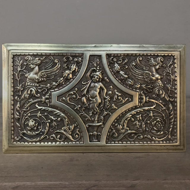 Jewelry Box, 19th Century French Renaissance, Cast in Bronze For Sale In Dallas - Image 6 of 13
