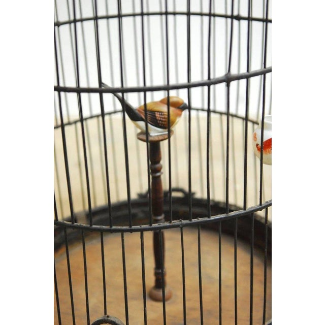 Black Antique Chinese Domed Bamboo Bird Cage For Sale - Image 8 of 11
