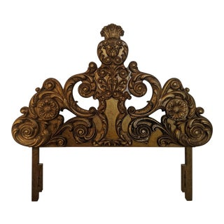 Rococo Style Gilded Queen Headboard For Sale