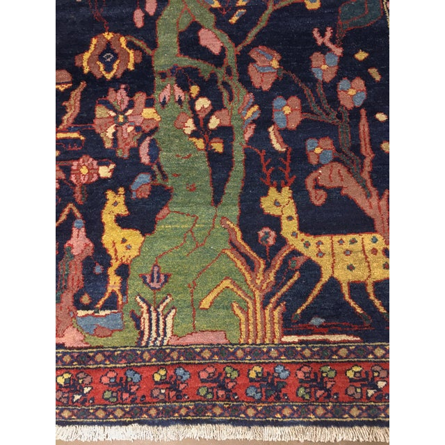 """Antique Persian Lillihan Tree of Life Rug, 4'3"""" X 8'2"""" For Sale In Phoenix - Image 6 of 10"""