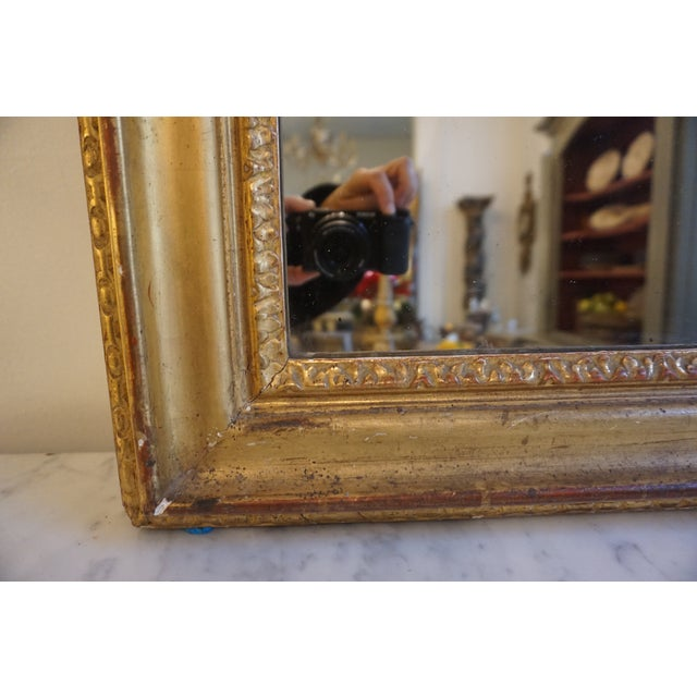 Late 19th Century 19th Century Louis XV Trumeau Mirror For Sale - Image 5 of 8