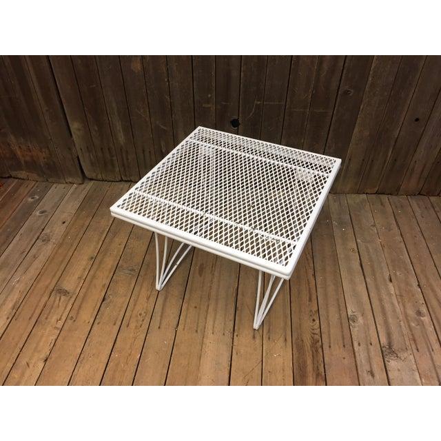 Mid Century Modern White Homecrest Side Table - Image 8 of 11