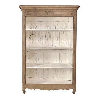 18th Century Country French Stripped Open Bookcase For Sale