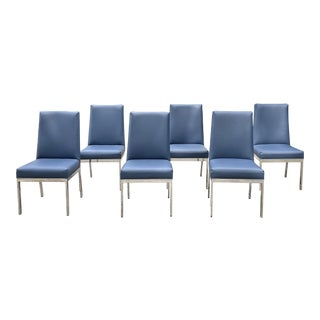 Late 20th Century Milo Baughman Style Dining Chairs - Set of 6 For Sale