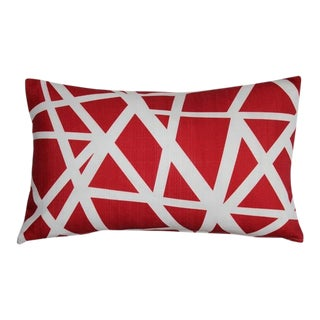 Pillow Decor Bird's Nest Red 12x20 Pillow For Sale