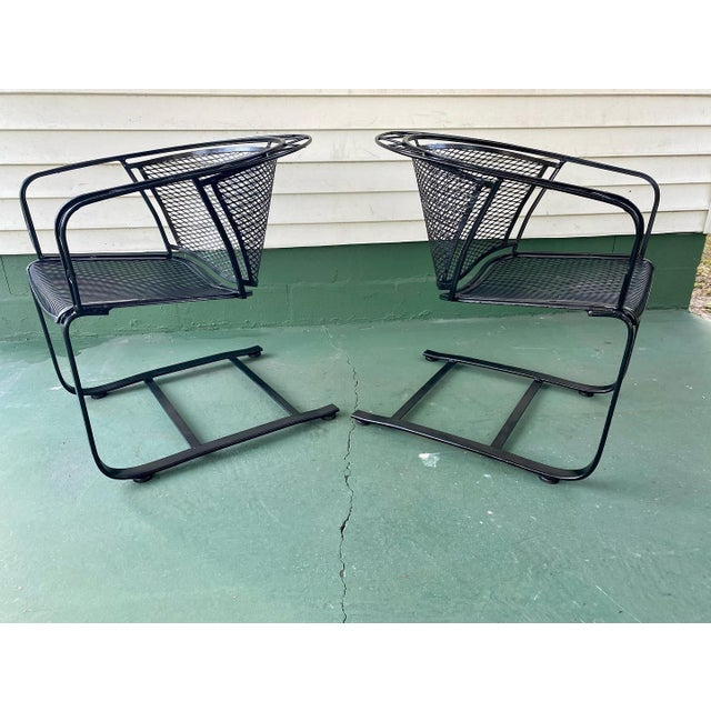 1960s Mid Century Modern Wrought Iron Rocker Chairs - a Pair For Sale In Tampa - Image 6 of 7