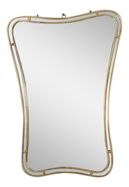 Image of Brown Mantel and Fireplace Mirrors