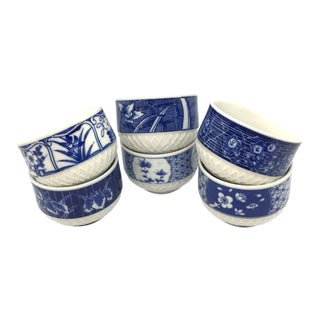 Vintage Chinoiserie Tea Cups - Set of 6 For Sale