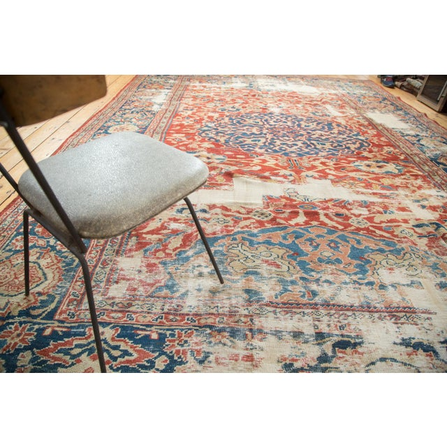 "Antique Distressed Ziegler Sultanabad Carpet - 9'9"" X 13'3"" For Sale - Image 5 of 10"