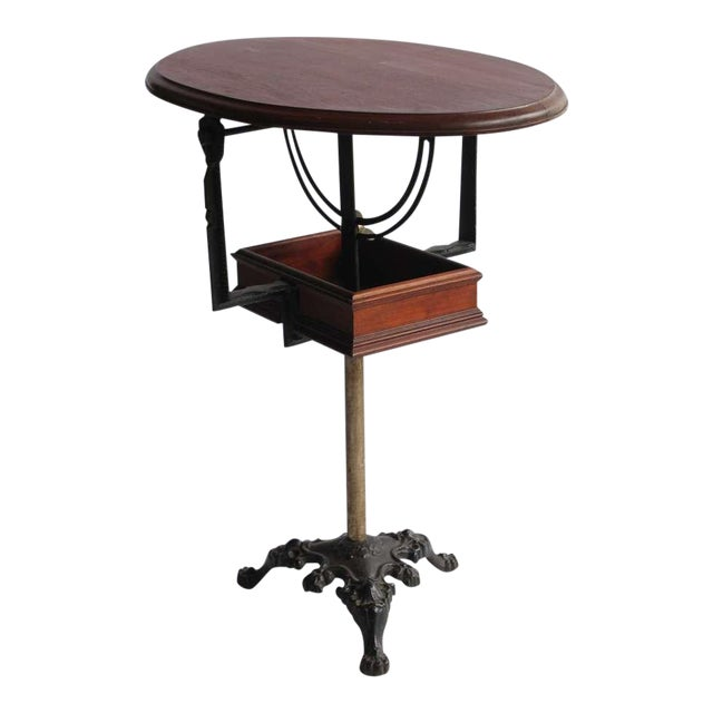 early 20th C. Antique Tilt Top Table For Sale