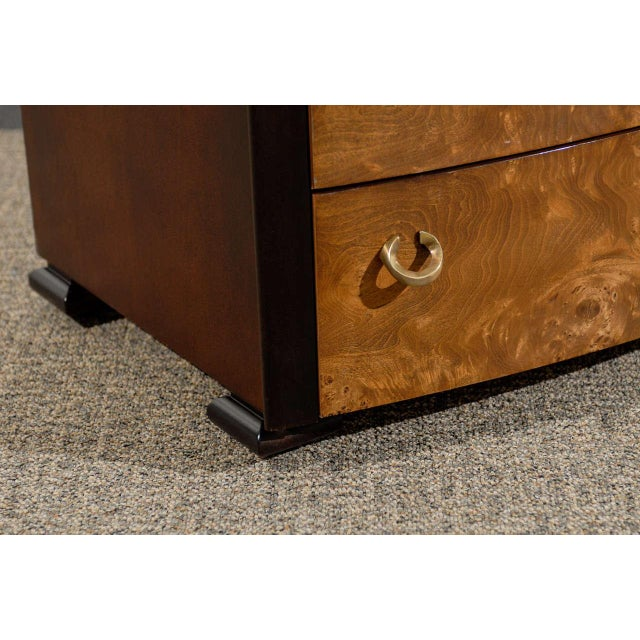 Gold Vintage Pair of Hickory White End Tables/Night Stands For Sale - Image 8 of 11