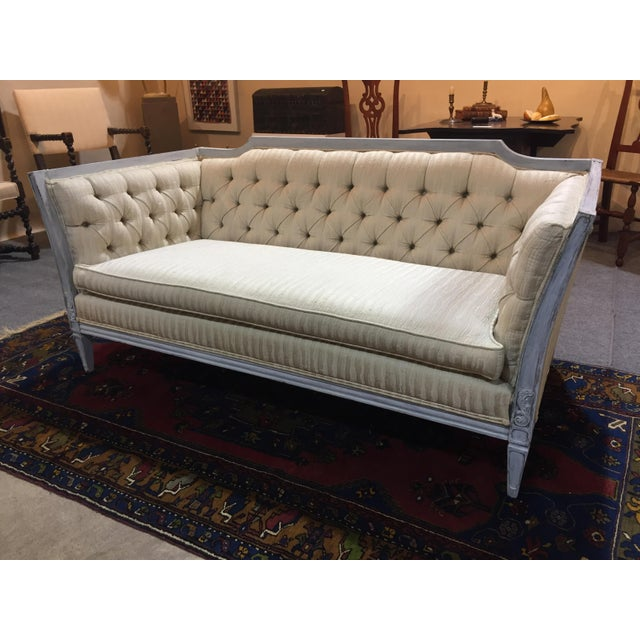 Late 20th Century Vintage Custom Swedish Gustavian Style Sofa For Sale - Image 12 of 13