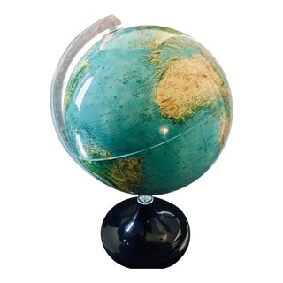 Space Age Nova Rico Florence Lighted World Globe Lamp For Sale